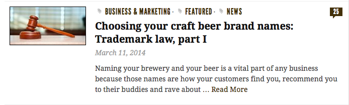 Check us out: Craft Brewing Business