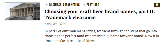 Check us out: Craft Brewing Business – Part 2