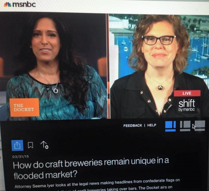 03.31.15 The Craft Beer Attorney featured on MSNBC 'The Docket'