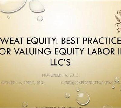 Sweat Equity Webinar