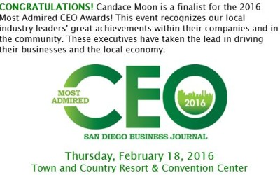02.01.2016 Most Admired CEO Finalist – San Diego Business Journal